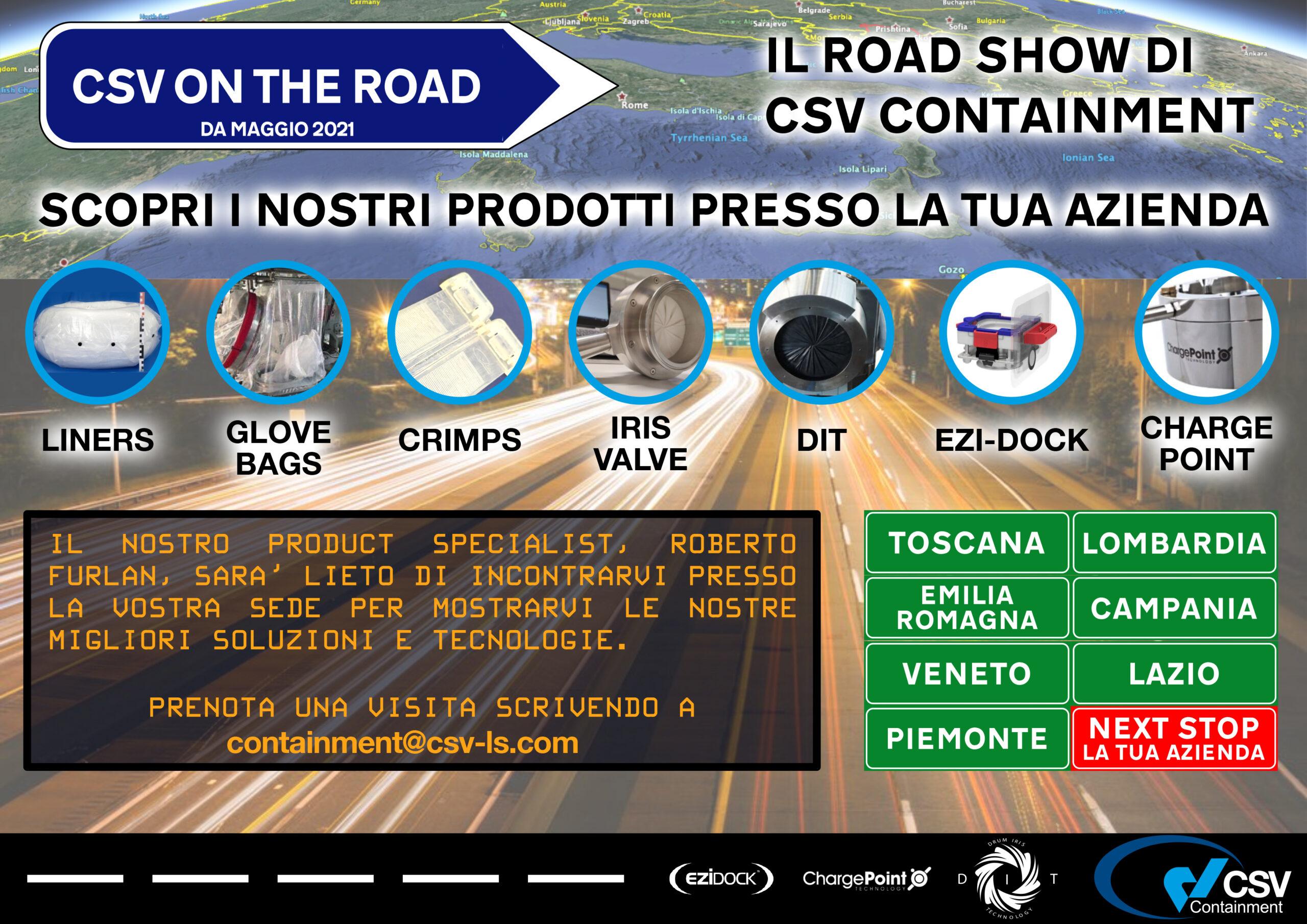 Csv in tour in Italia